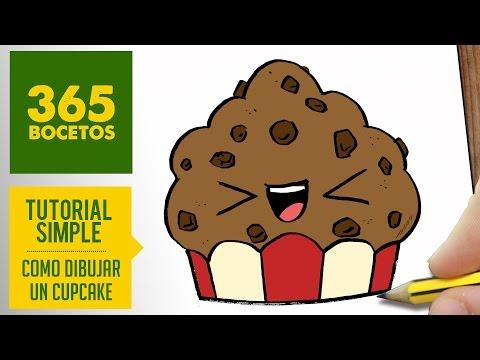 como dibujar cupcakes