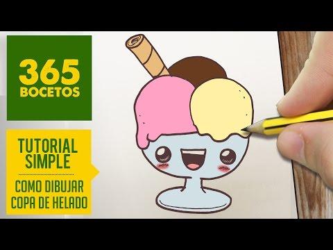 como dibujar helados