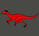 Dibujo Velociraptor pintado por veneno