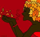 Dibujo Diosa del viento pintado por charito