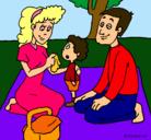 Dibujo De picnic pintado por charito