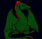 Dibujo Dragón pintado por veneno