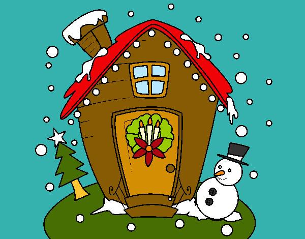 Dibujos de paisajes navide os para colorear - Dibujos para una postal de navidad ...