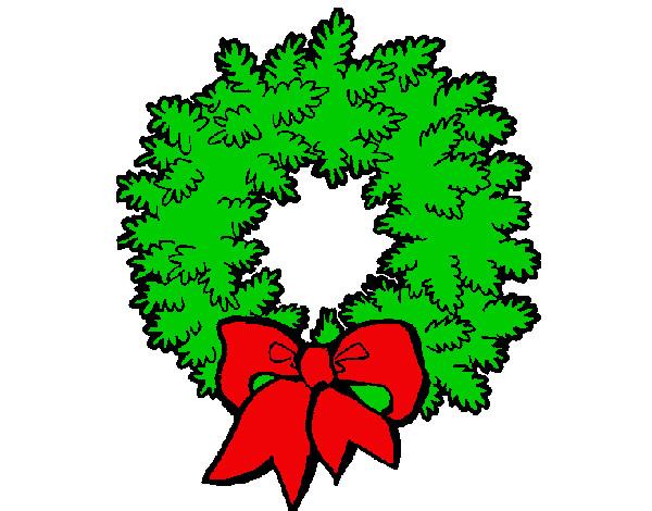 dibujos de coronas de navidad para colorear - Coronas Navidad