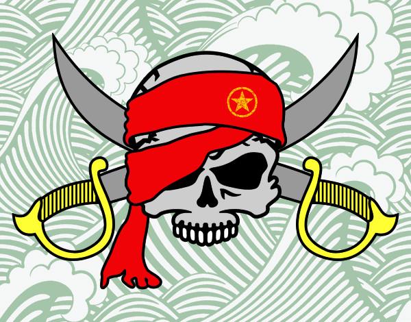 Dibujos de Banderas pirata para Colorear  Dibujosnet