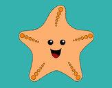 Dibujo Estrella de mar 1 pintado por charito
