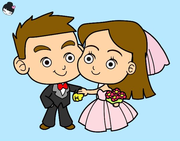 Dibujos De Casados Para Colorear