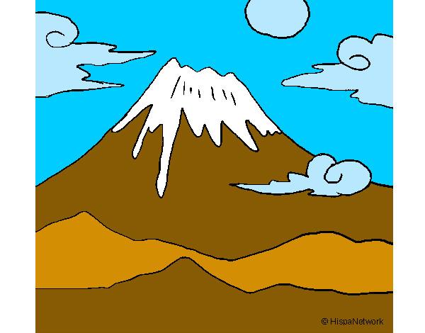 Dibujos de Montaas para Colorear  Dibujosnet