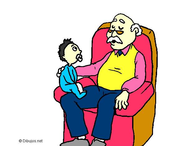 Dibujos de Abuelos para Colorear  Dibujosnet
