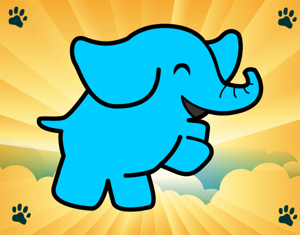 Dibujos de Elefantes para Colorear  Dibujosnet