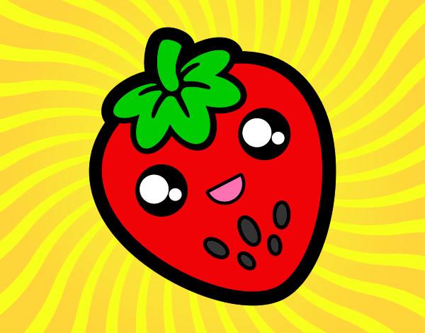 Dibujos de Fresas para Colorear  Dibujosnet