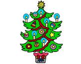 Dibujo Árbol de navidad con velas pintado por josemp