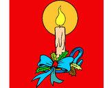 Dibujo Vela de navidad 3 pintado por andymely