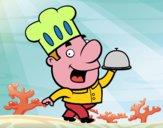 Dibujo Cocinero gracioso pintado por danyolarte