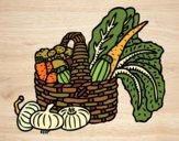 Dibujo Cesta de verduras pintado por queyla