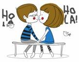 Dibujo Jóvenes enamorados pintado por annayelias
