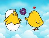 Pollitos enamorados