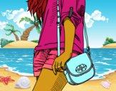 Chica con bolso