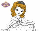 La Princesa Sofia saludando