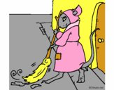 Dibujo La ratita presumida 1 pintado por nargia