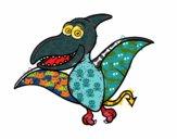 Dibujo Pterosaurio pintado por arezte
