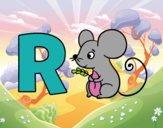 Dibujo R de Ratón pintado por Anto05