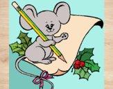 Dibujo Ratón con lapiz y papel pintado por queyla