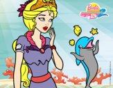 Sirena con delfín