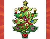 Dibujo Árbol de navidad con velas pintado por GabyMil
