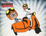 Mr Peabody y Sherman en moto