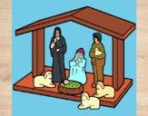 Dibujo Pesebre de navidad 1 pintado por dianita12