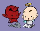 Dibujo Ángel o demonio pintado por vanesa123