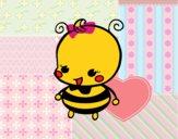 Dibujo Bebé abeja pintado por superbea