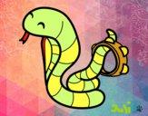 Dibujo Cobra con pandereta pintado por Julimar222