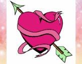 Dibujo Corazón con flecha pintado por RUBI45