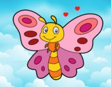 Dibujo Mariposa fantasía pintado por LunaLunita