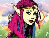 Dibujo Princesa elfo pintado por valeccc