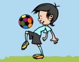 Dibujo Toques con el balón pintado por lou05