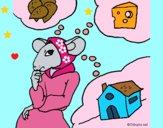 Dibujo La ratita presumida 4 pintado por LunaLunita