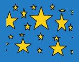 Dibujo Conjunto de estrellas pintado por LunaLunita