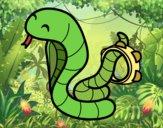 Cobra con pandereta