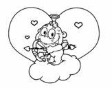 Cupido y corazón