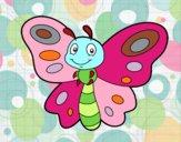 Dibujo Mariposa fantasía pintado por priva