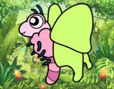 Dibujo Mariposa feliz pintado por priva