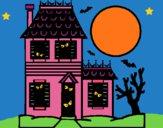Dibujo Casa del terror pintado por LunaLunita