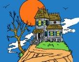Dibujo Casa encantada pintado por LunaLunita