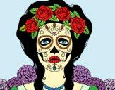 Dibujo Mujer calavera mejicana pintado por asas