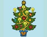 Dibujo Árbol de navidad con velas pintado por LunaLunita