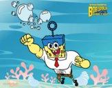 Dibujo Bob Esponja - La burbuja invencible al ataque pintado por kjdfshiudf