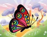 Dibujo Mariposa dirección derecha pintado por LunaLunita
